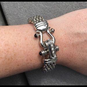Vintage hollow snake bracelet silver
